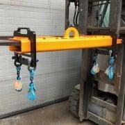 Hijsjuk voor het veilig wisselen van heftruck tractie accu batterij