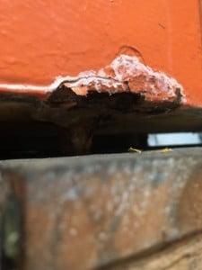 Schade aan container tractiebatterij